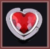 Novelty heart shape promotional foldable bag hanger