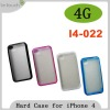 PC+TPU Soft Edges with Hard Surface for iphone 4
