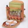 Picnic backpack for 4 persons with full dinnerware