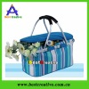 Picnic basket,camping basket,canvas picnic basket