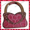 Pink Leather Animal Print Handbag Shaped Bag Hanger/Purse Hook/Handbag Hooker/Purse Holder/Handbag Purse Caddy