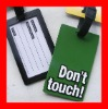 Plastic luggage tags soft pvc tag