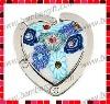 Polymer Clay Purse Hanger/Bag Holder/Handbag Hook with Heart Shape