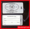 Promotional pvc business card tag-luggage tag