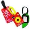 Promotional shaped pvc luggage handbag tag
