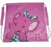 Purple cute drawstring backpack for promotion