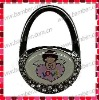 Purse Shaped Bag Hanger with Customised Epoxy Sticker