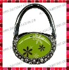 Purse Shaped Bag Hanger with Epoxy Sticker