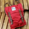 Red Mini fashion Backpack with real leather shoulder strap