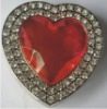 Red Rhinestone Heart Foldable Bag Hanger