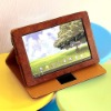 Reddish brown ROTARY folio PU leather case for ASUS Eee Pad TF101