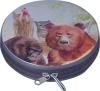Round CD tin case