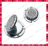 Round Shaped Rhinestones Purse Hanger/Purse Hook/Bag Hook/Handbag Hook/Bag Hanger/Purse Handbag Holder with Mirror
