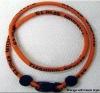 Silicone titanium necklace titanium rope necklace