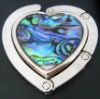 Simple heart shape colored painting purse hanger hook with stars ZM-HB078.