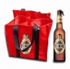 Six bottles non-woven wine tote bags