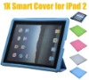 Slim Smart Cover Leather Case with Back cover Stand for iPad 2