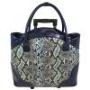 Snake Skin Print Trolley Bags for Ladies