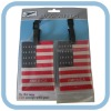 Soft pvc national flag travel tag