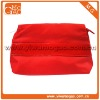 Solid colour clutch small red ziplock nylon makeup bag