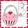 Strawberry Decor Tricolor Cake Pattern Padlock Handbag Hook/Purse Hanger