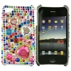 Stylish Bling Colourful Heart Diamond Hard Shell Cover Case For Apple iPhone 4G