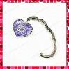 Stylish Heart Shaped Letters Enamel Foldable Crystal Bag Hanger/Purse Hanger/Purse Hook/Handbag Hook/Purse Holder