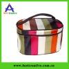 Summer new satin stripe cosmetic bag