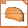 Sumptuous clutch small leather shell shaped zipper unisex cosmetic bag