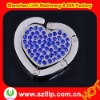 Supply diamond crystal heart bag hanger