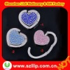Supply foldable and portable diamond heart shape metal bag hanger