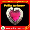 Supply newest diamond heart shape fortable zinc alloy bag hanger