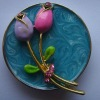 The tulip attached epoxy handbag hanger promotional gift