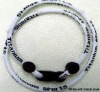 Triple braided titanium sport necklace/custom titanium rope necklace