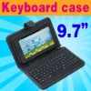 "USB Keyboard & Leather Case Leather Keyboard for 9.7"" Tablet MID ePad PC"