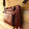 Vintage Leather Shoulder Bag Messenger Notebook hand Business man bag