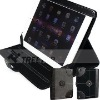 Wheel Folio style leather case for Apple ipad 2 case --hot selling!!