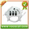 White 3 Digits Padlock Combination Master Number Locks