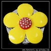 YELLOW SUN FLOWER CRYSTAL FOLDABLE HANDBAG HOOK HANGER