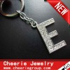 Zinc alloy Letter keyring with top quality plating(CK0091)