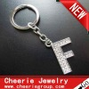 Zinc alloy Letter keyring with top quality plating(CK0092)