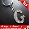 Zinc alloy Letter keyring with top quality plating(CK0093)