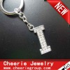 Zinc alloy Letter keyring with top quality plating(CK0095)