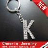 Zinc alloy Letter keyring with top quality plating(CK0097)