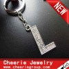 Zinc alloy Letter keyring with top quality plating(CK0098)