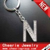 Zinc alloy Letter keyring with top quality plating(CK0100)