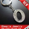 Zinc alloy Letter keyring with top quality plating(CK0101)