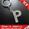 Zinc alloy Letter keyring with top quality plating(CK0102)