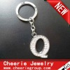 Zinc alloy Letter keyring with top quality plating(CK0103)