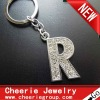 Zinc alloy Letter keyring with top quality plating(CK0104)